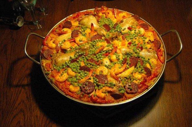"""Paella """"rica"""" de chorizo."""