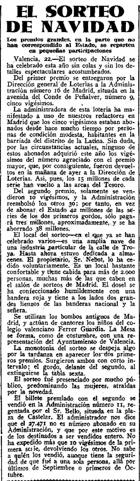 La Libertad, 23 de diciembre de 1936
