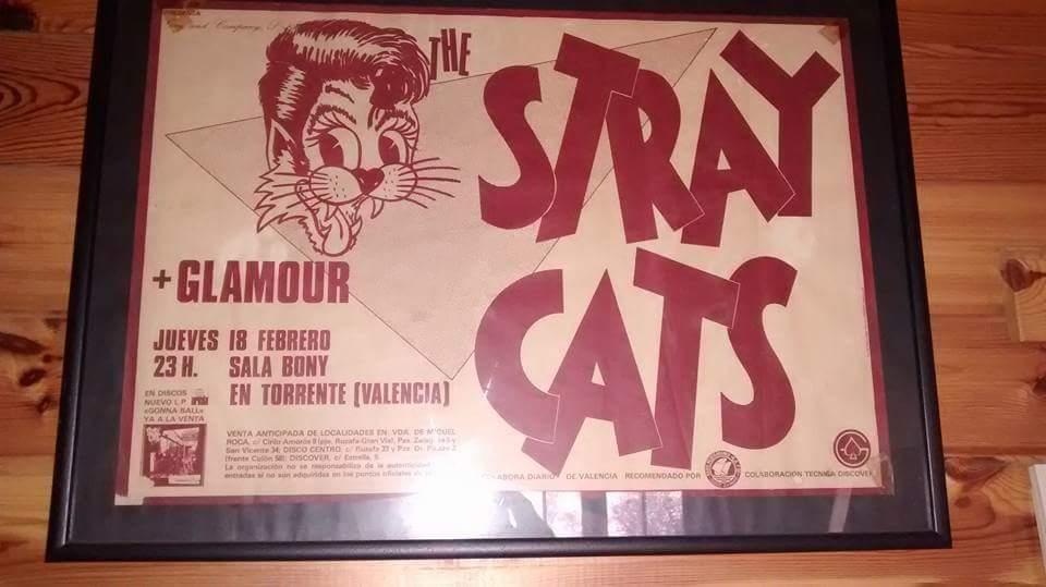 Recuerdo de aquel concierto de los Stray Cats en la Sala Bony. Fuente: Fernando García.
