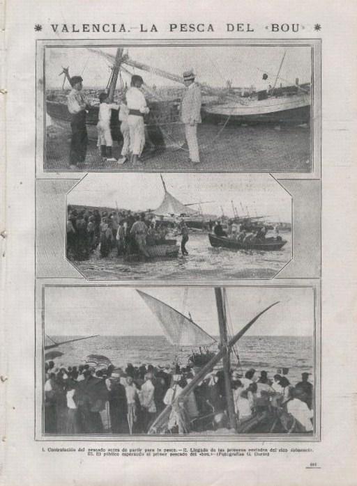 """Pesca en el Cabanyal: """"la pesca dels bous""""."""