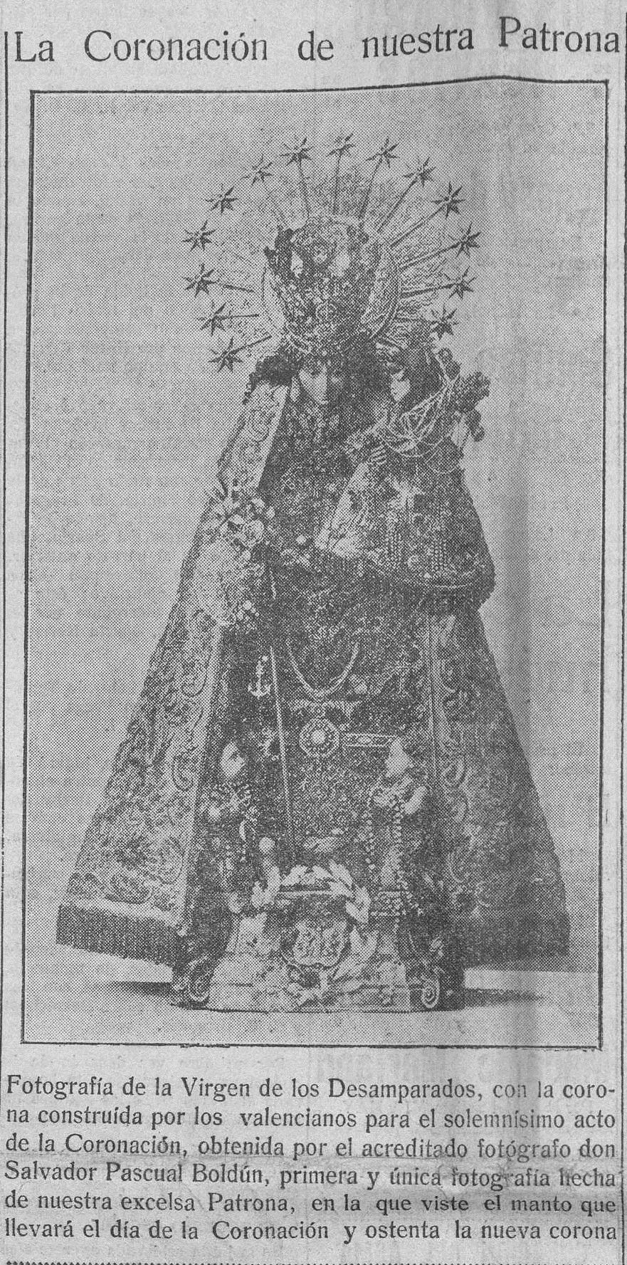 Imagen que apareció en la portada de 'Las Provincias : diario de Valencia: Número 16647 - 1923 abril 21 (21/04/1923)