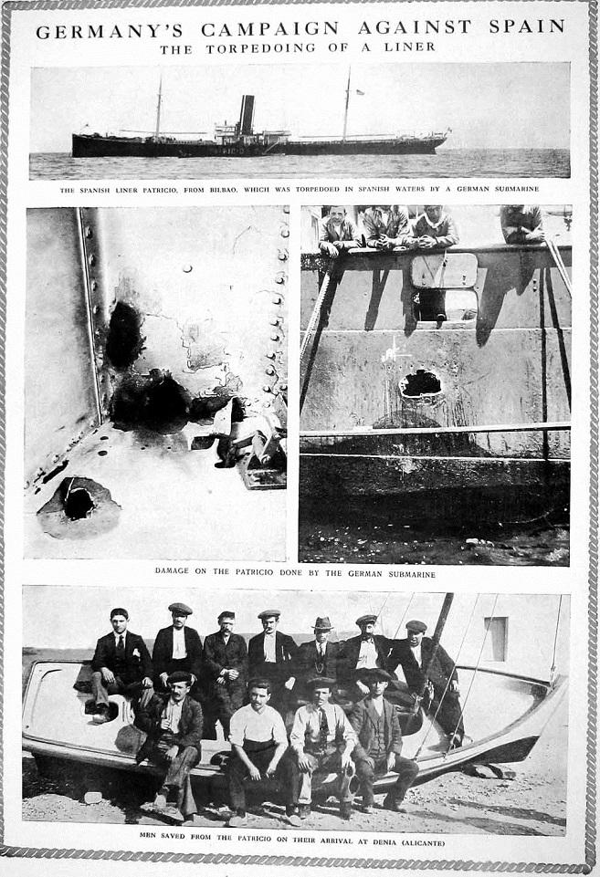 Imágenes del Patricio bombardeado.