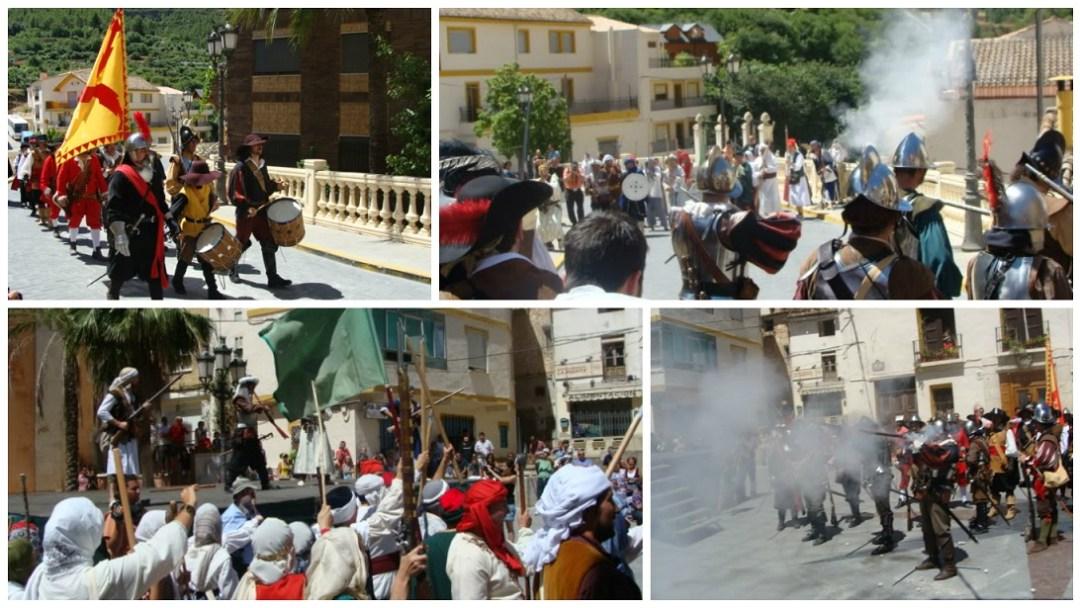 """Fotografías de Eugenio Roldán de la Recreación histórica Cortes de Pallás de 2009: """"La rebelión de los moriscos 1609""""."""