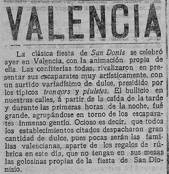Las Provincias, 9 de octubre de 1914.