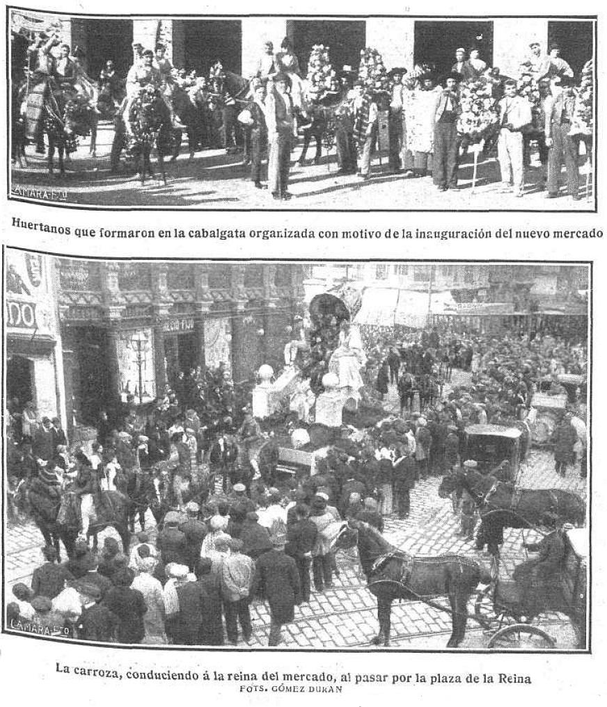 Fotos del 24 de diciembre de 1916 del Mercado de Colón (Mundo gráfico. 3/1/1917)