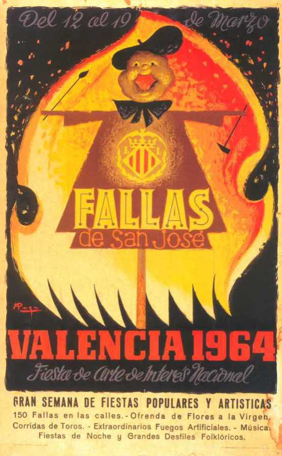 Cartel de Fallas 1964