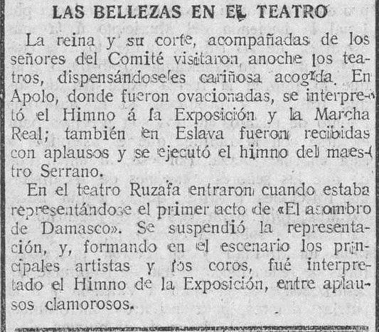 El Pueblo, 25 de diciembre de 1916 (en referencia a la noche anterior).