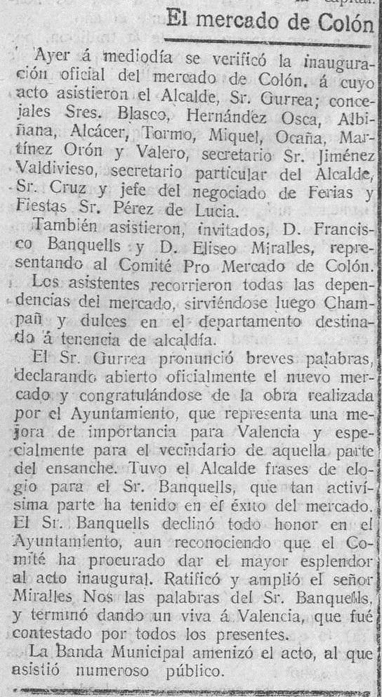 """El Pueblo (26/12/1916), sobre la """"inauguración oficial del 25 de diciembre""""."""