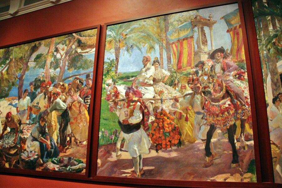 Las Grupas, Visión de España de Joaquín Sorolla en la Sociedad Hispánica de Nueva York. Fuente: http://guias-viajar.com/