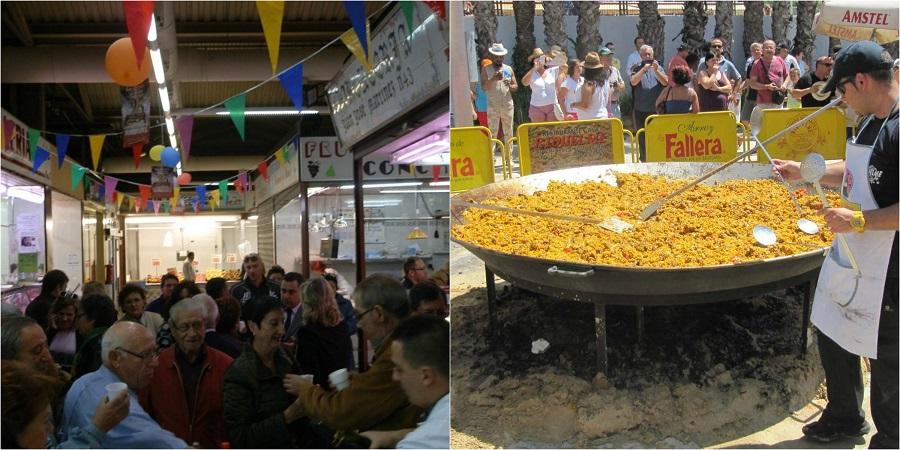 Paella gratis para 1000 personas, actividades y animación en el Mercado de Torrefiel el sábado