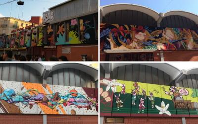 El Mercado de Rojas Clemente se viste bonito gracias a una intervención de arte urbano