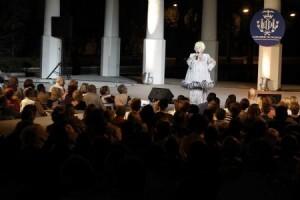 Rosita Amores en una actuación de ediciones pasadas de la Feria de Julio