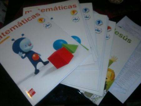 Algunos libros de primero de primaria