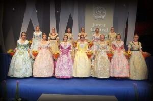 La Corte de Honor de la Fallera Mayor de Valencia de 2013 de donde se elegirá a la Fallera Mayor de 2013/a.romero/j.v.zaragoza