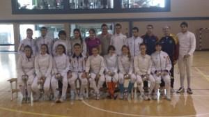 El grupo de tiradores del club de esgrima del Cabanyal/sav