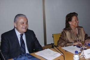 Los responsables de la Feria en la reunión de hoy/pepe sapena
