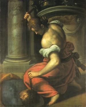 Jael matando a Sísara, pintado por Palma el Joven.