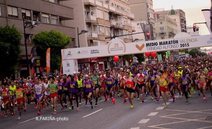 12.500 particpantes en la Media Maratón.