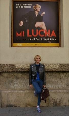 Antonia San Juan trae 'Mi lucha' a Valencia. (Foto-R.Fariña-Valencia Noticias).