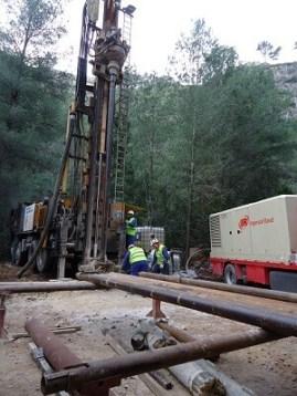 Durante las dos semanas en las que se han ejecutado estas labores, se ha procedido a la perforación de 270 metros.