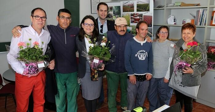 Visita de Oltra a la localidad de Cheste.