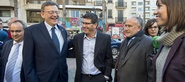 Los presidentes de la Diputación de Valencia, Jorge Rodríguez, y de la Generalitat, Ximo Puig.