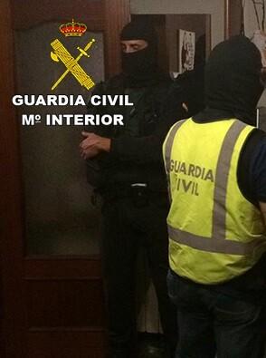 Operación desarrollada por el Servicio de Información de la Guardia Civil.