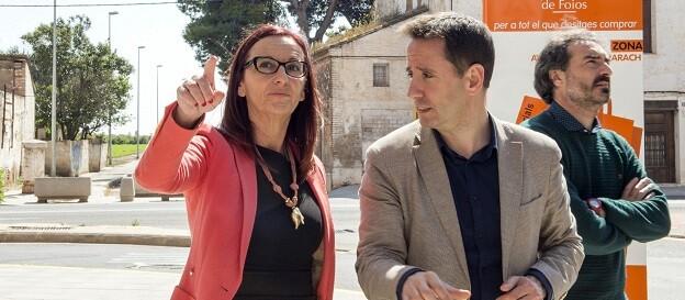 La vicepresidenta visitó esta localidad de l'Horta Nord para ver las actuaciones ejecutadas con los fondos provinciales. (Foto-Abulaila).
