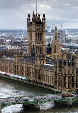 Palacio de Westminster en Londres.