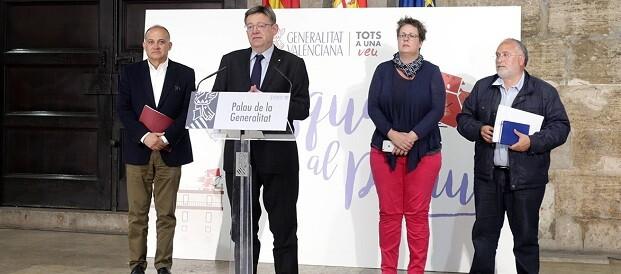 Ximo Puig durante la rueda de prensa.