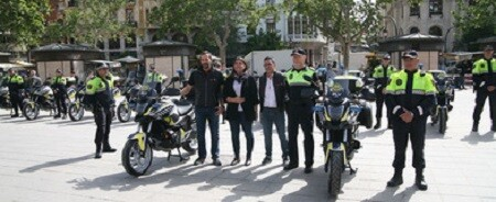Presentación de las motos.