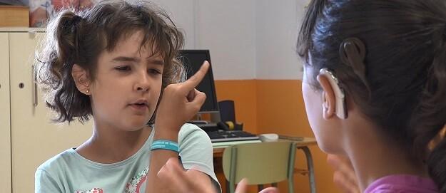 Alumnas del Colegio Luis Fortich de la Diputación de Valencia.
