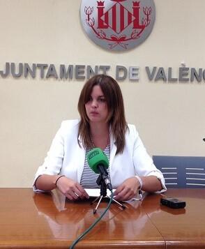 La regidora Sandra Gómez.