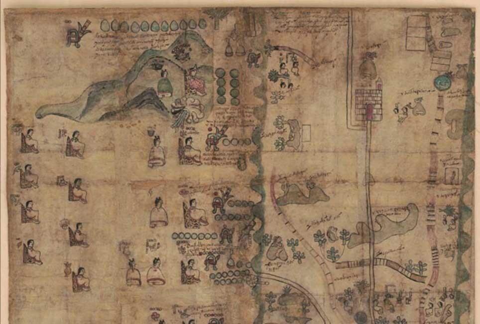 Mitad-superior-mapa-Codice-Quetzalecatzin