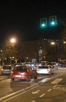 Tráfico en la ciudad.