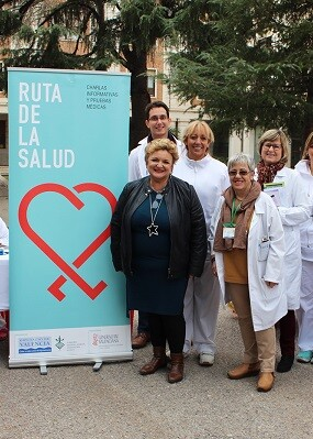 Mercedes Berenguer con Ruta de la Salud