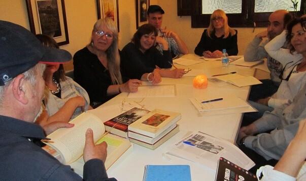 Otro momento de la master class en Valencia de Libro, Vuela Libre.