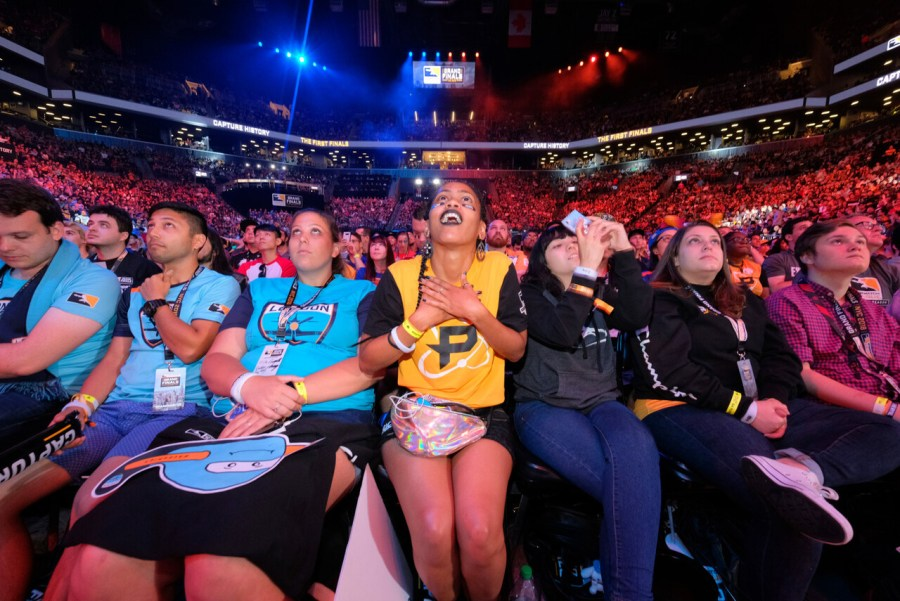 NEW YORK, NY - JULY 27:  The crowd is seen at Overwatch League Grand Finals - Day 1 at Barclays Center on July 27, 2018 in New York City.  (Photo by Matthew Eisman/Getty Images for Blizzard Entertainment )