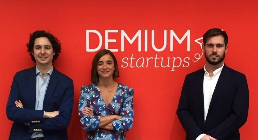 Francisco Marin (Metricson), Carlota Sancho (Demium Startups) y Andrés Ruiz (Metricson),de izq a dcha