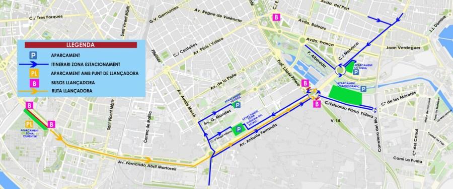 1130 Marató 2018. Pàrquings