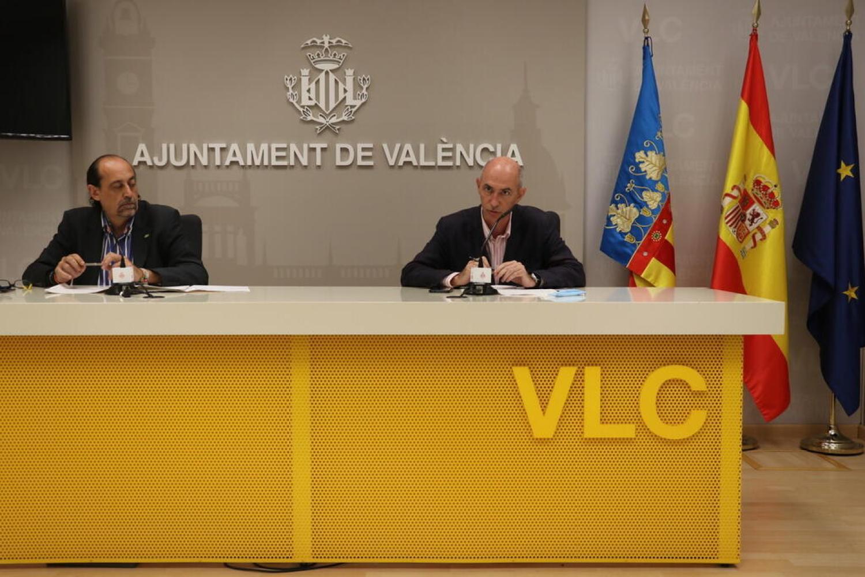 Rueda de Prensa VOX. Pepe Gosálbez y Vicente Montañez