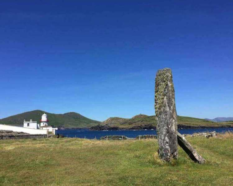 Glanleam Standing Stone on the site of Valentia Island Lioghthouse