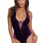 Body réversible violet