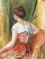 seated young woman Pierre-Auguste Renoir