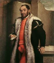 Giovanni Battista Moroni - Portrait of Antonio Navagero 1565