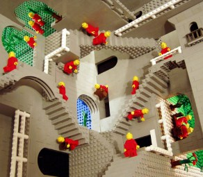 Esher's Relativity in LEGO