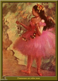 Edgar Degas. Danseuse en robe rose.