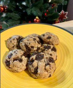 Biscotti noci e cioccolato fondente