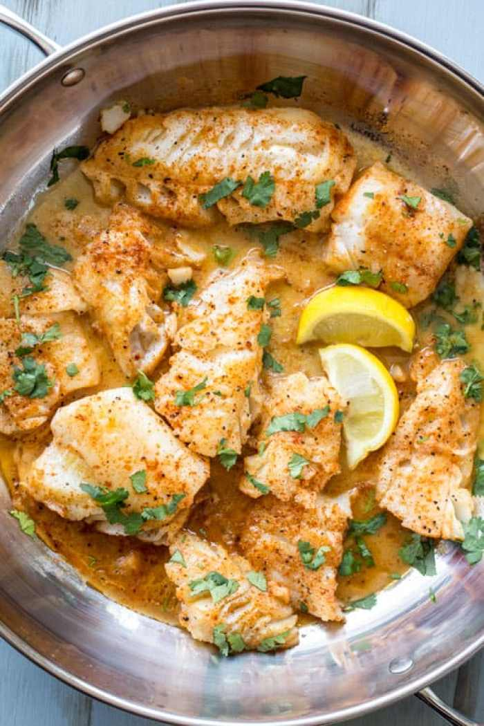 Buttered Cod In Skillet (VIDEO)