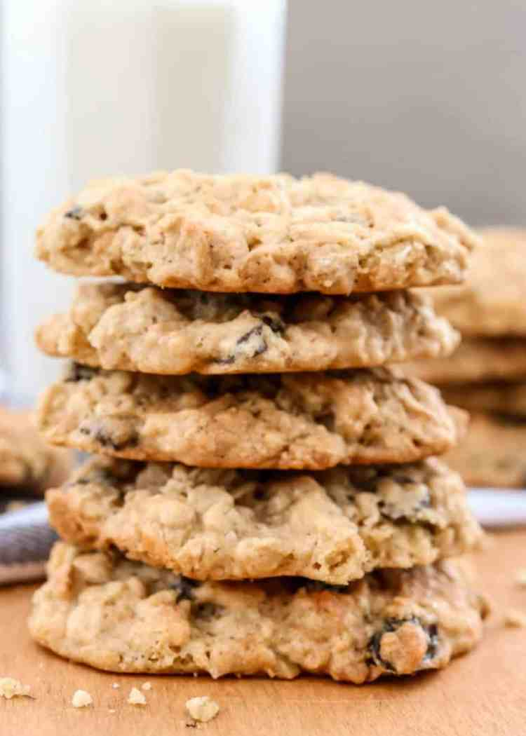 Soft oatmeal coconut and raisin cookie recipe.